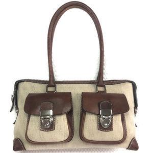 Dooney and Bourke Leather Trim Shoulder handbag